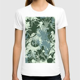 tropical silhouette with orchids and palms tonal T-shirt