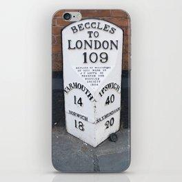 English Milestone iPhone Skin
