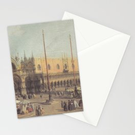 Piazza San Marco South East - Canaletto (Distressed Plaster Look) Stationery Cards