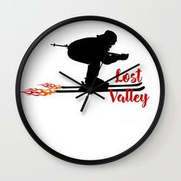 Ski speeding at Lost Valley Wall Clock