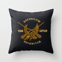 quidditch Throw Pillows featuring Ravenclaw quidditch team iPhone 4 4s 5 5c, ipod, ipad, pillow case, tshirt and mugs by Three Second