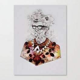 Looking through the Garden Canvas Print