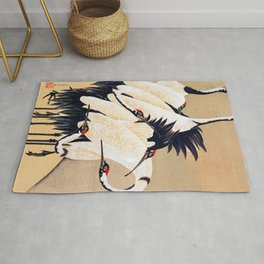 Ito Jakuchu - cranes - Digital Remastered Edition Rug