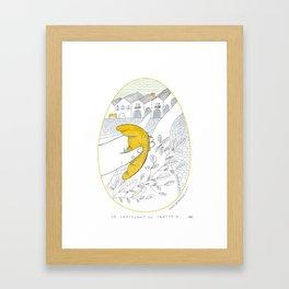 Il croissant per strada _ 6\34 _ Viola Gesmundo _ Piccoli piaceri della vita Framed Art Print