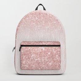 Elegant rose gold pink gradient glitter Backpack