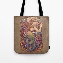Andersen Little Mermaid Nouveau Tote Bag