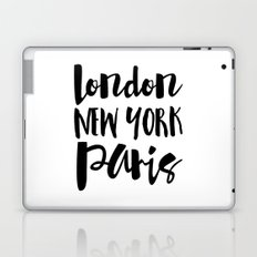 London New York Paris - Typography Laptop & iPad Skin