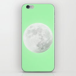 WHITE MOON + LIME SKY iPhone Skin