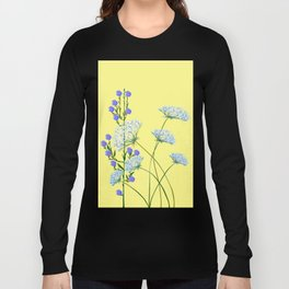 My Kentucky Wild Flowers, Queen Anne Lace and Flax Long Sleeve T-shirt