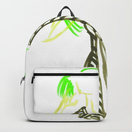 Little Striped Dress - Green Palette Backpack