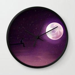 Jimin Serendipity Talking to the Moon Purple Version Wall Clock