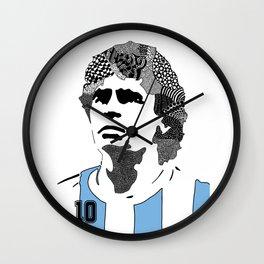 Diego Maradona Wall Clock