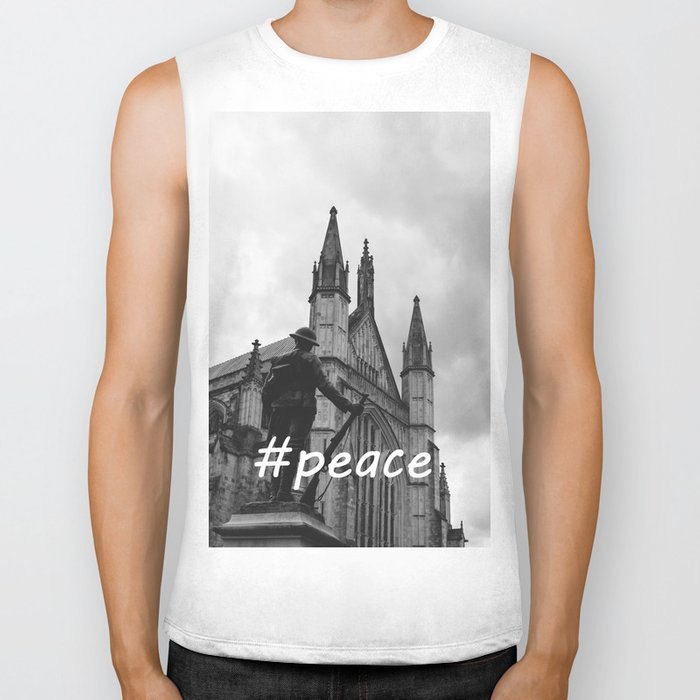 Soldier and cathedral Biker Tank
