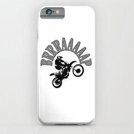 Brrraaaaap Checkered Flag Moto Language iPhone Case