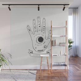 Palmistry Hand Wall Mural