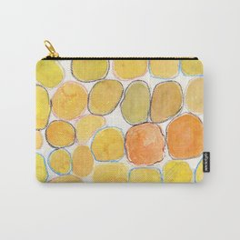 Cheerful orange Gathering Carry-All Pouch