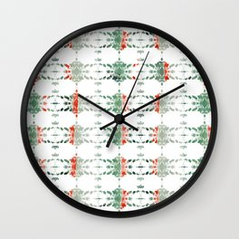 estrela_turqouise&red_no1 Wall Clock