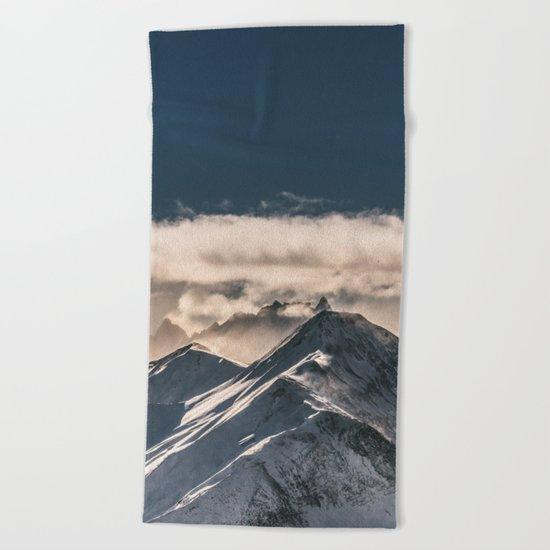 Mountains II #landscape photography Beach Towel