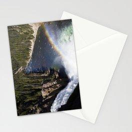 Yellowstone Water fall rainbow Stationery Cards