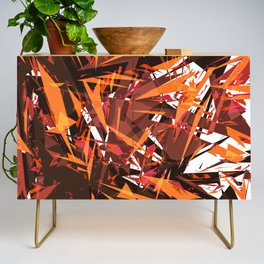 red & spiky Credenza