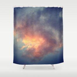 Fiery cloud Shower Curtain