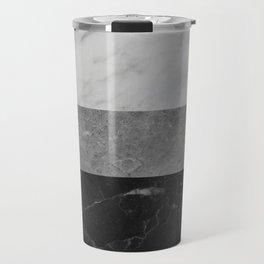 Marble - White, Grey, Black Travel Mug