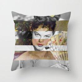 Berthe Morisot's At the Ball & Ava Gardner Throw Pillow