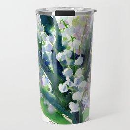 Lilies of the Valley, spring floral design flowers sring design wood flowers Travel Mug