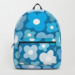 Blue Flower Power Backpack