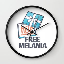 Free Melania Wall Clock