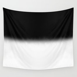 Black and White Split Fade Inverse Wall Tapestry