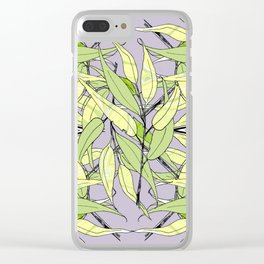 Blue Gum Forest Floor Clear iPhone Case