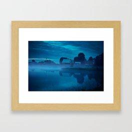 Contryside blue morning Framed Art Print