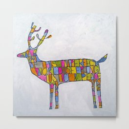 Deer-words Metal Print