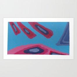 20 - Razing Rayz of Red & Other Grayz Art Print