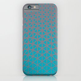 Aqua Blue and Gray Triangle Gradient Wave Pattern 2021 Color of the Year AI Aqua and Good Gray iPhone Case