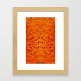 Orange Dance Framed Art Print