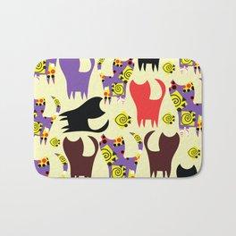Cats pattern #4W Bath Mat