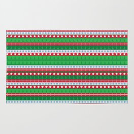 Santa's Special Delivery Repeating Pattern Rug