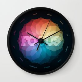 Focus Manifesto Wall Clock