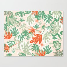 Tropical Abstract Pattern Canvas Print