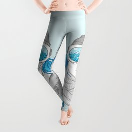 snowboarder girl Leggings