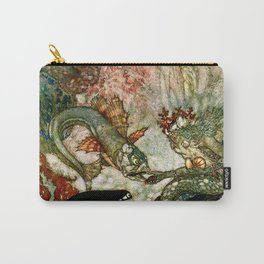 """""""King of the Mermaids"""" Fairy Tale Art by Edmund Dulac Carry-All Pouch"""