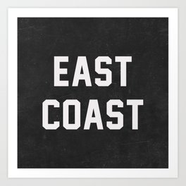 East Coast - black Art Print