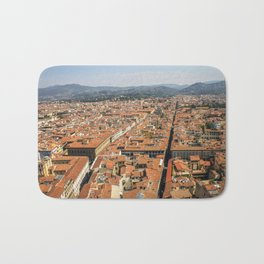 Overlooking Florence, from Giotto's Bell Tower Bath Mat