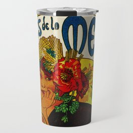 Vintage Art Nouveau Beer Ad Travel Mug
