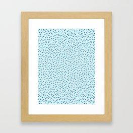 Blue Aqua Water Waves Vector Pattern Framed Art Print