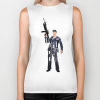 montana Biker Tanks featuring Tony Montana by Ayse Deniz