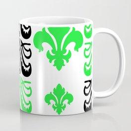 Fluer de Lis Custom Green Coffee Mug