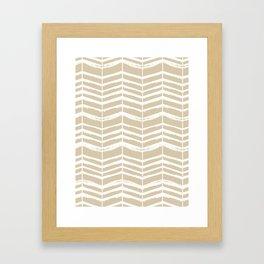 Herringbone Framed Art Print